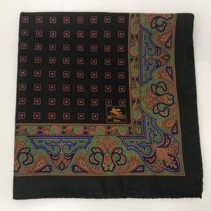 Etro Silk Pocket Square Handkerchief